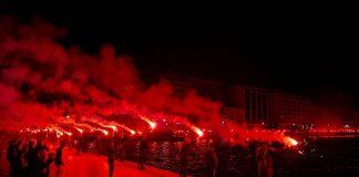 VIDEO | Momente incredibile la Salonic! Fanii lui PAOK au sărbătorit 93 de ani de la înființarea clubului