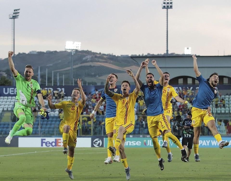 Romania U21 bucurie Croatia
