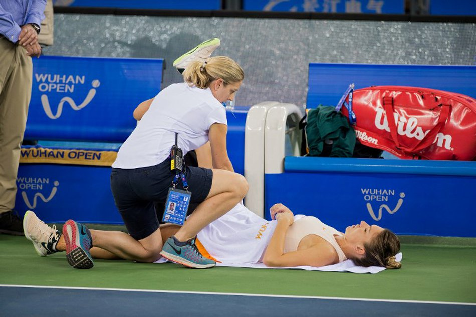 halep accidentare wuhan