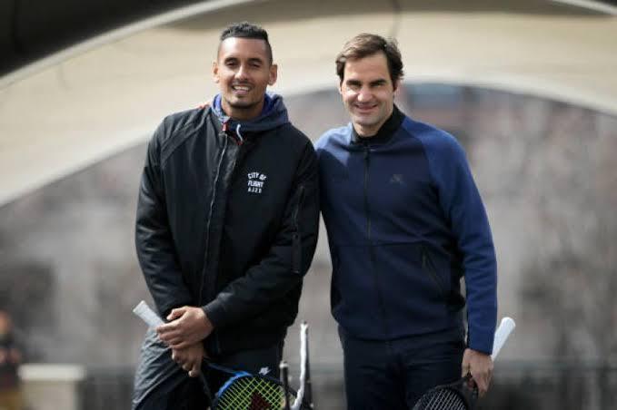 Nick Kyrgios și Roger Federer