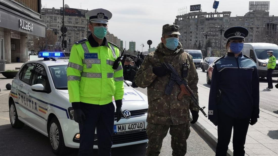 politie si armata pe strazi coronavirus