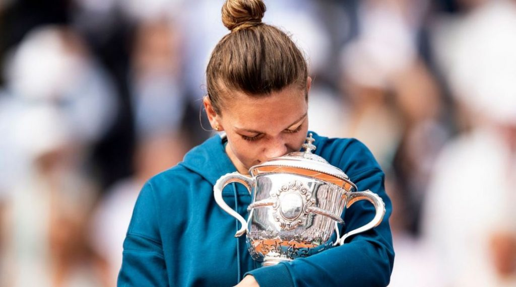 Simona Halep, trofeu Roland Garros