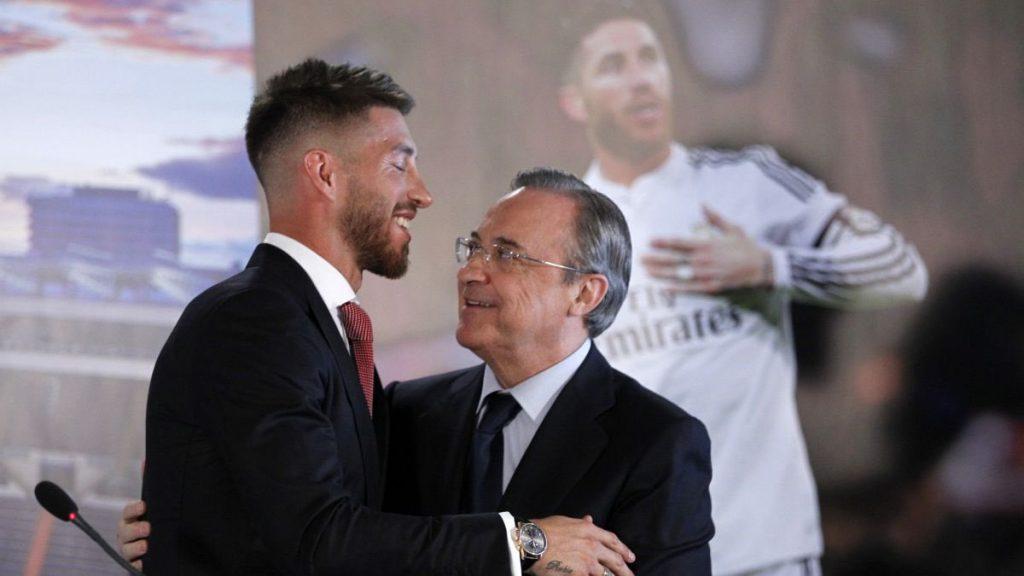Sergio Ramos şi Florentino Perez