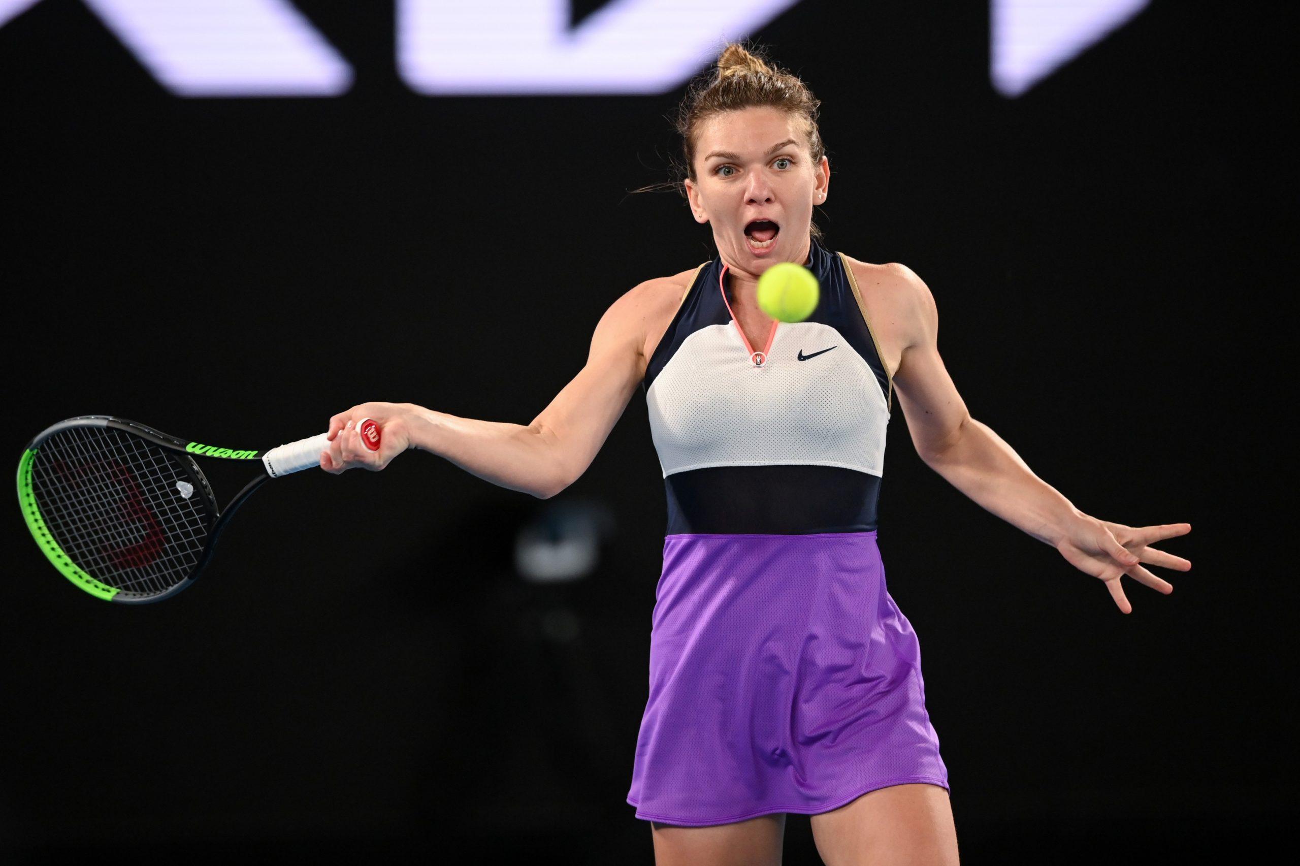 Simona Halep Australian Open antrenament scaled