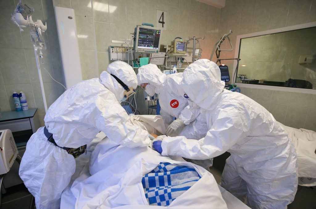 Pokrovskaya Hospital in St Petersburg amid COVID-19 pandemic
