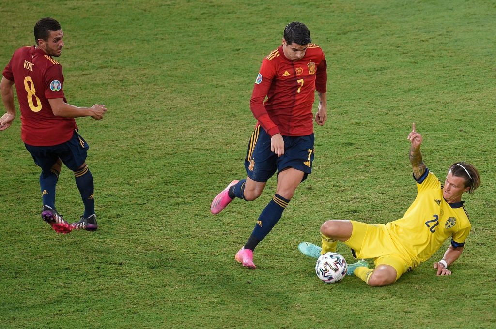 Spain v Sweden Euro 2020 match, group E, matchday 1. Football, La Cartuja Stadium, Sevilla, Spain – 14 Jun 2021