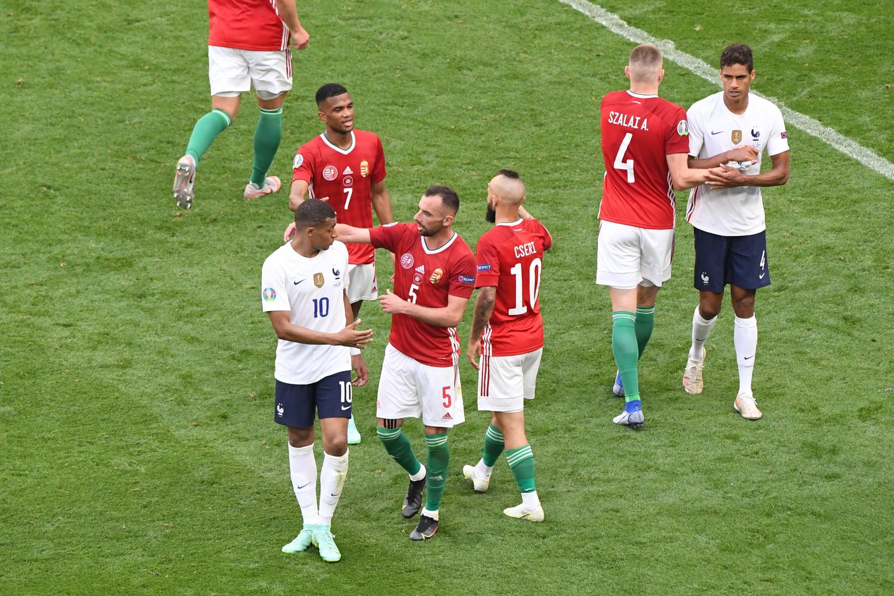 Match de l'UEFA Euro 2020 opposant la Hongrie ŕ la France au stade Puskas Arena ŕ Budapest