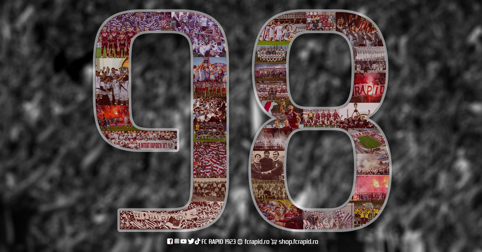 Rapid, 98 de ani de la înfiinţare. sursa foto: FC Rapid 1923