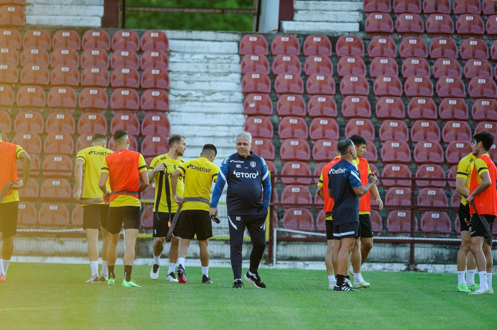 Marius Șumudică, la antrenamentul lui CFR Cluj