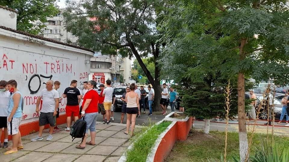Suporteri Dinamo, sursa foto: Peluza Catalin Hildan-Dinamo/Facebook