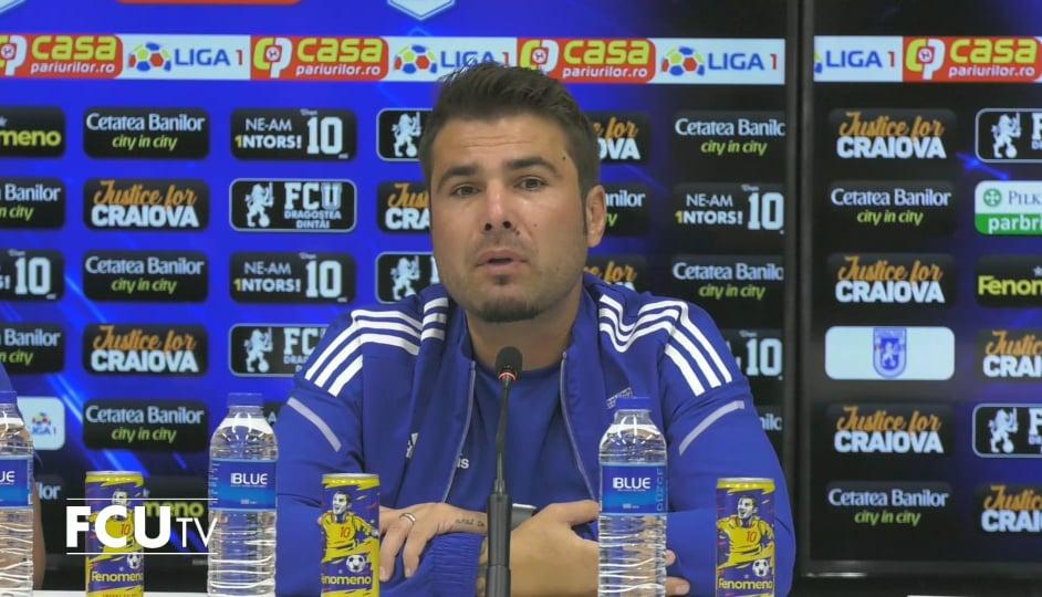 Adrian Mutu, antrenor FC U Craiova