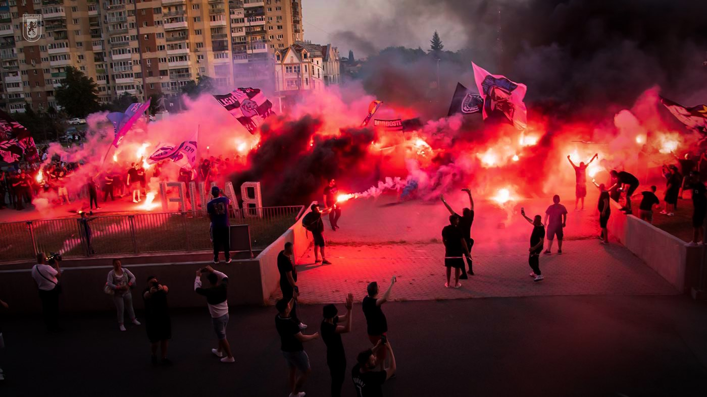 Fani FC U, sursa foto- FC U Craiova/Facebook