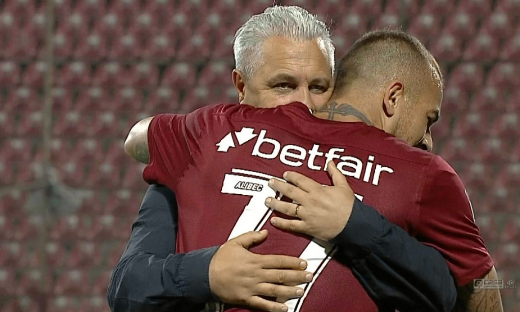 Marius Șumudică și Denis Alibec, sursa foto; captură Digi Sport