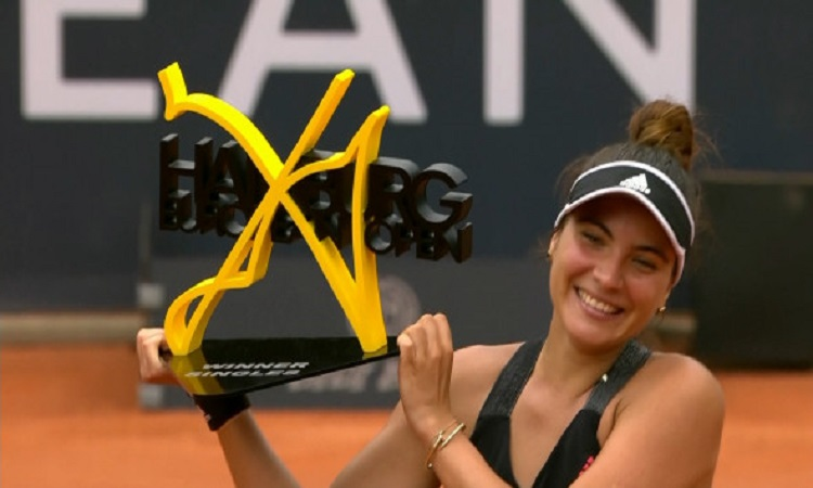 Gabriela Ruse a câștigat finala de la Hamburg / Foto: captură Digi Sport