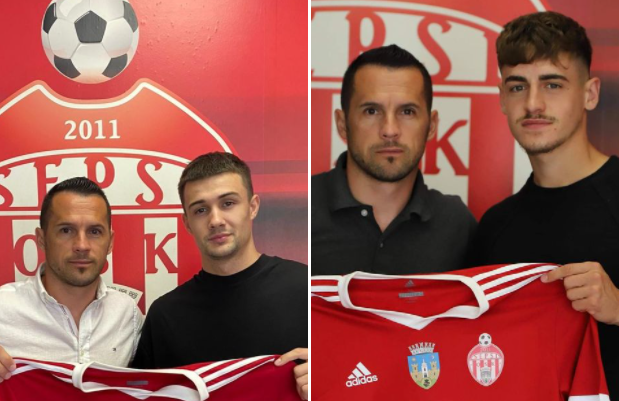Vitalie Damascan și Rareș Ispaș la Sepsi, sursa foto: Sepsi OSK/Facebook