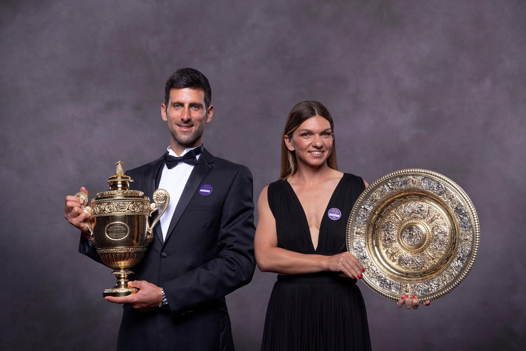 Djokovic și Halep, sursa- Profimedia Images
