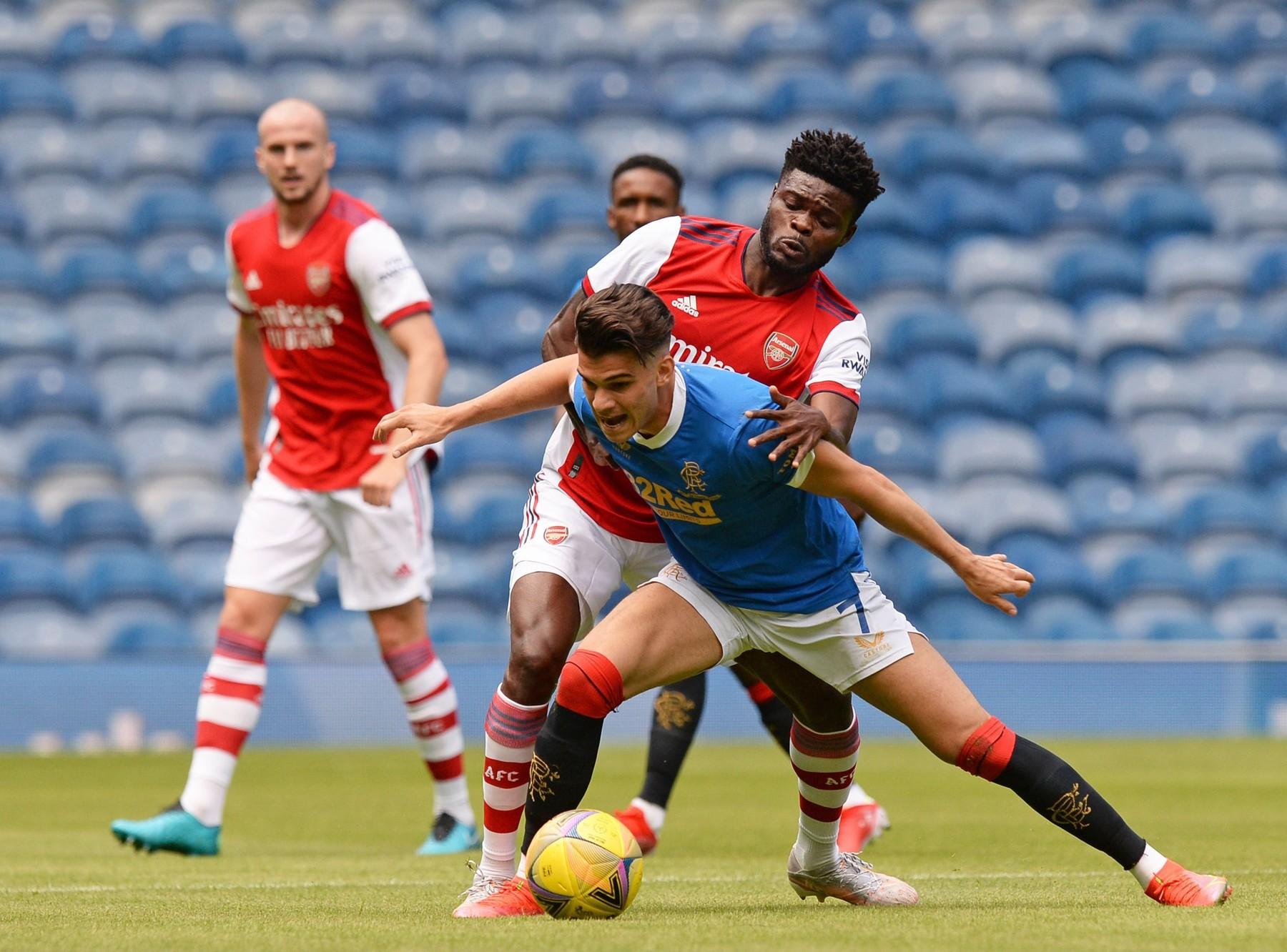 Ianis Hagi, Rangers v Arsenal, sursa foto: Profimedia Images