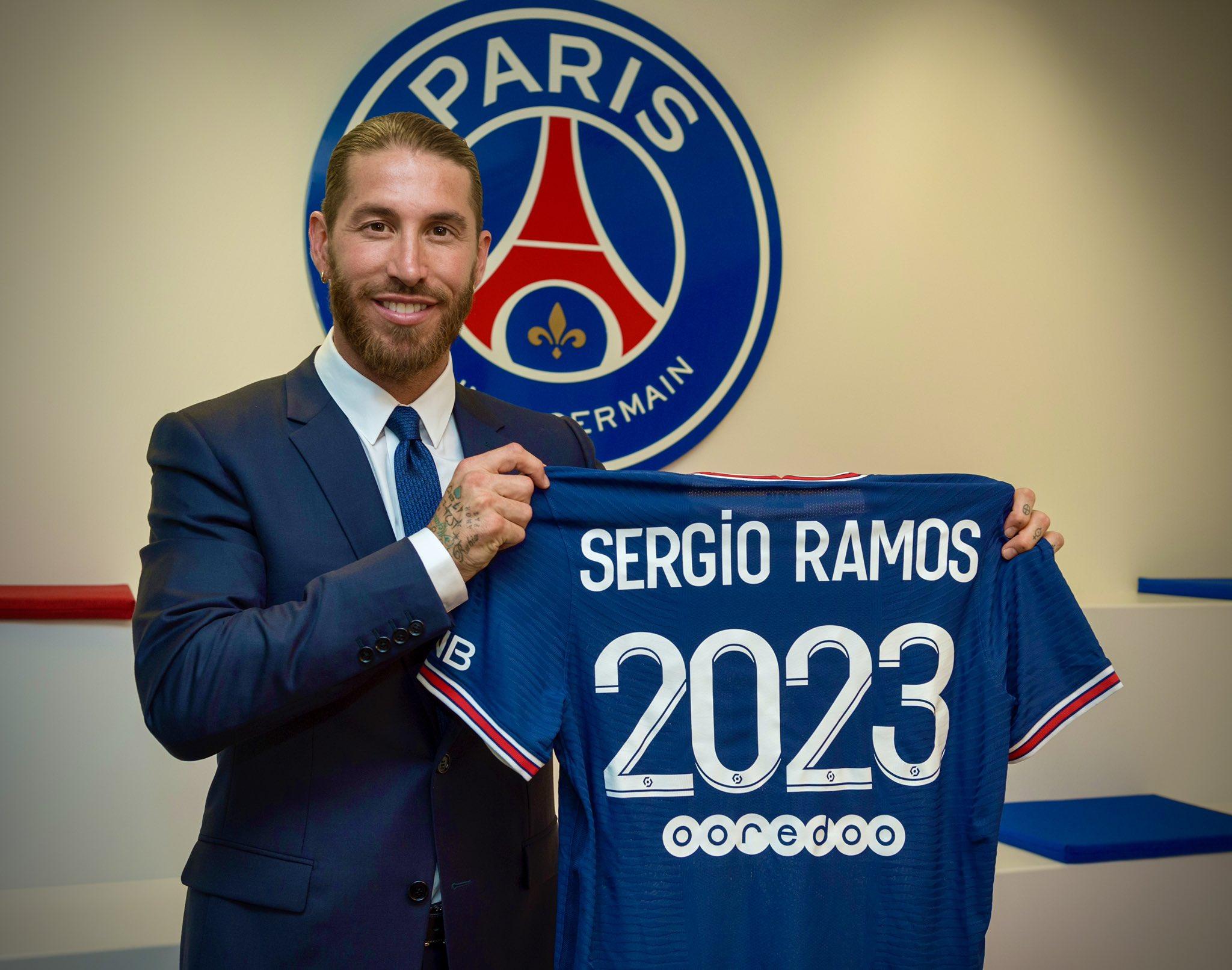 Sergio Ramos a semnat cu PSG. sursa foto: PSG