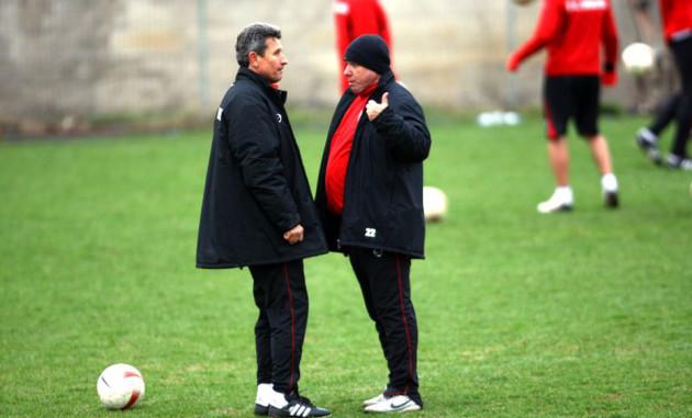 Cornel Tălnar, alături de Gheorghe Mulțescu